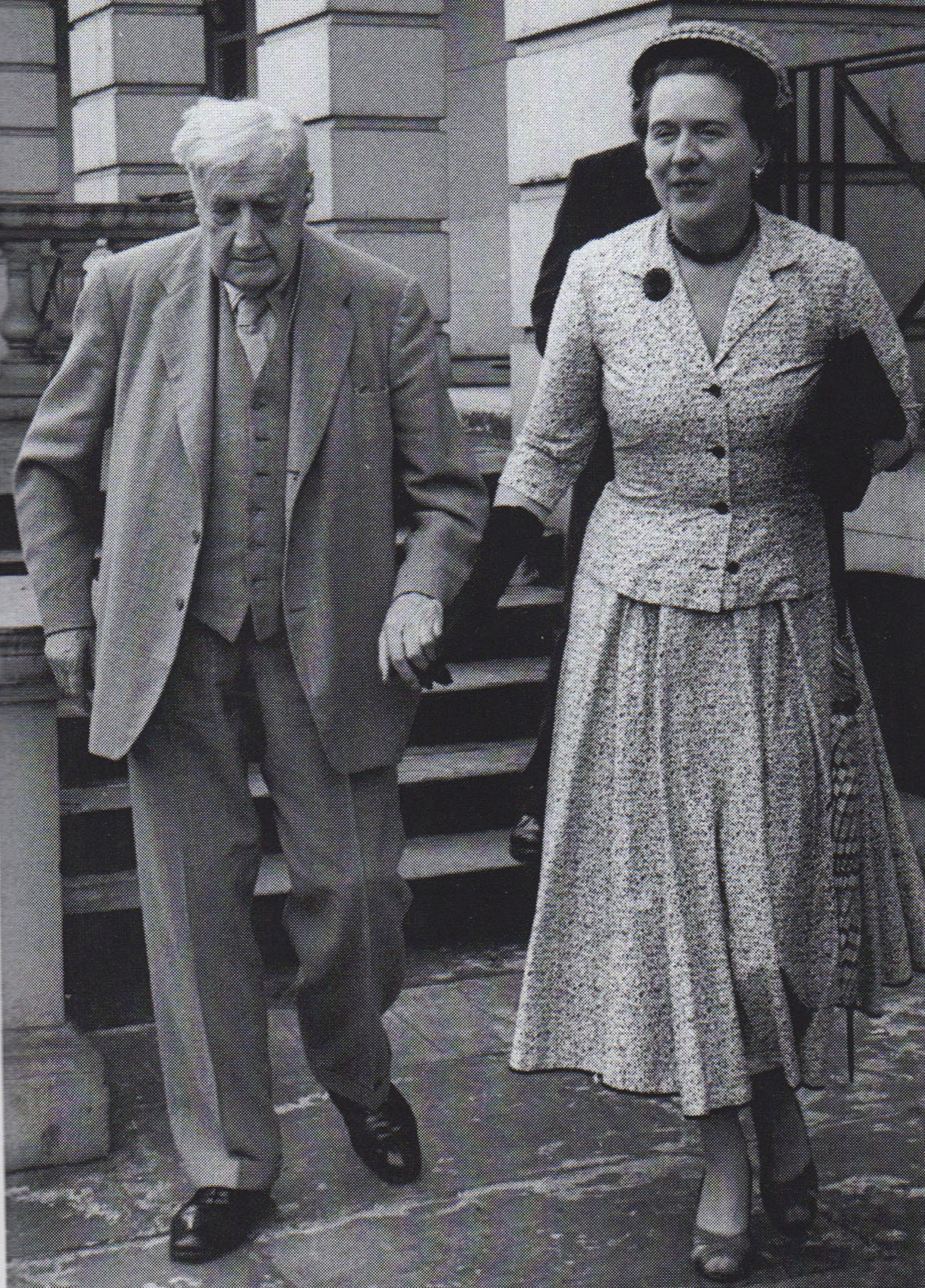 Vaughan Williams and Ursula at Hanover Terrace, London 1957